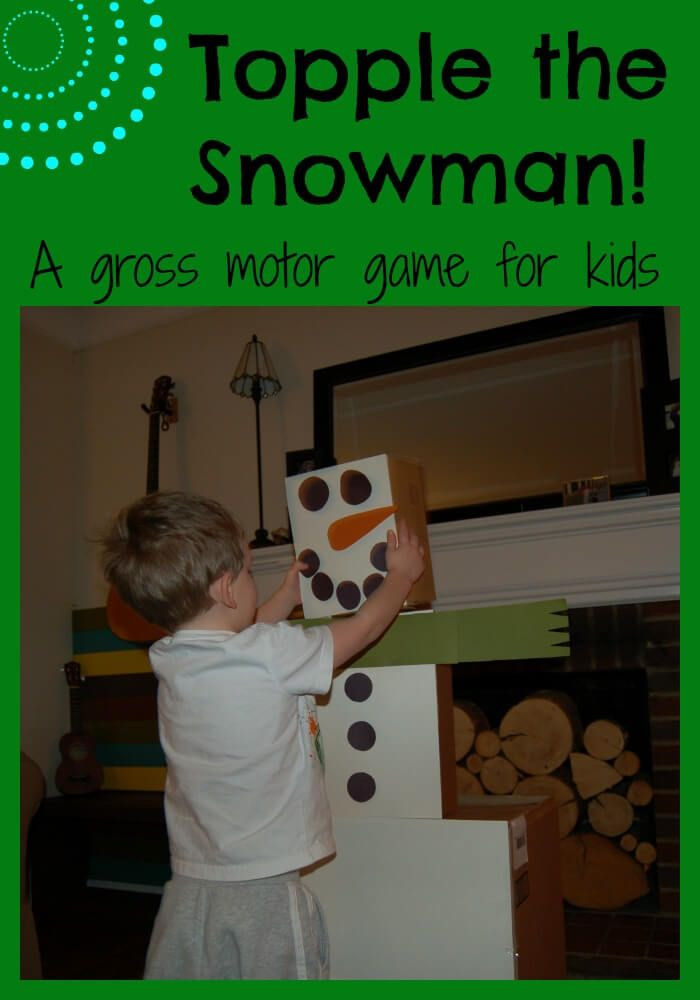 Christmas Indoor Games  TOPPLE THE SNOWMAN AND INDOOR GROSS MOTOR GAME