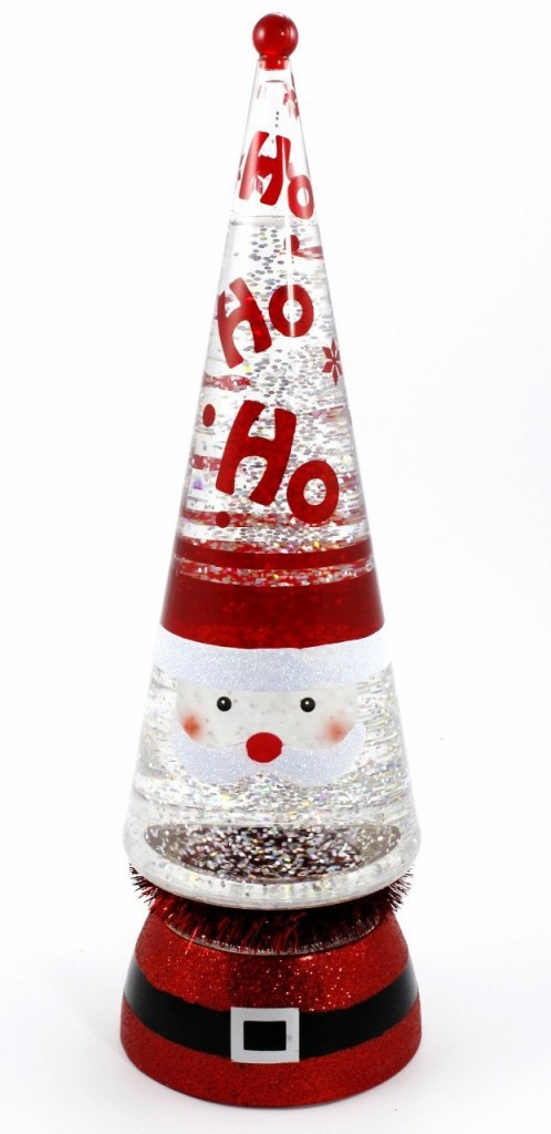 Christmas Lava Lamp  Lighted Glitter Santa Lava Lamp