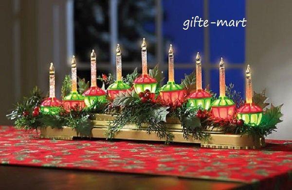 Christmas Lava Lamp  vintage style BUBBLE LIGHTS centerpiece christmas tree