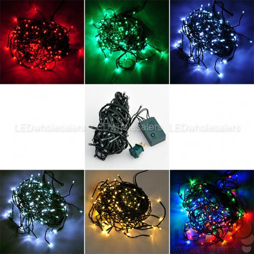 Christmas Lighting Controller System  33 ft 100 LED Christmas Holiday Light String with Green