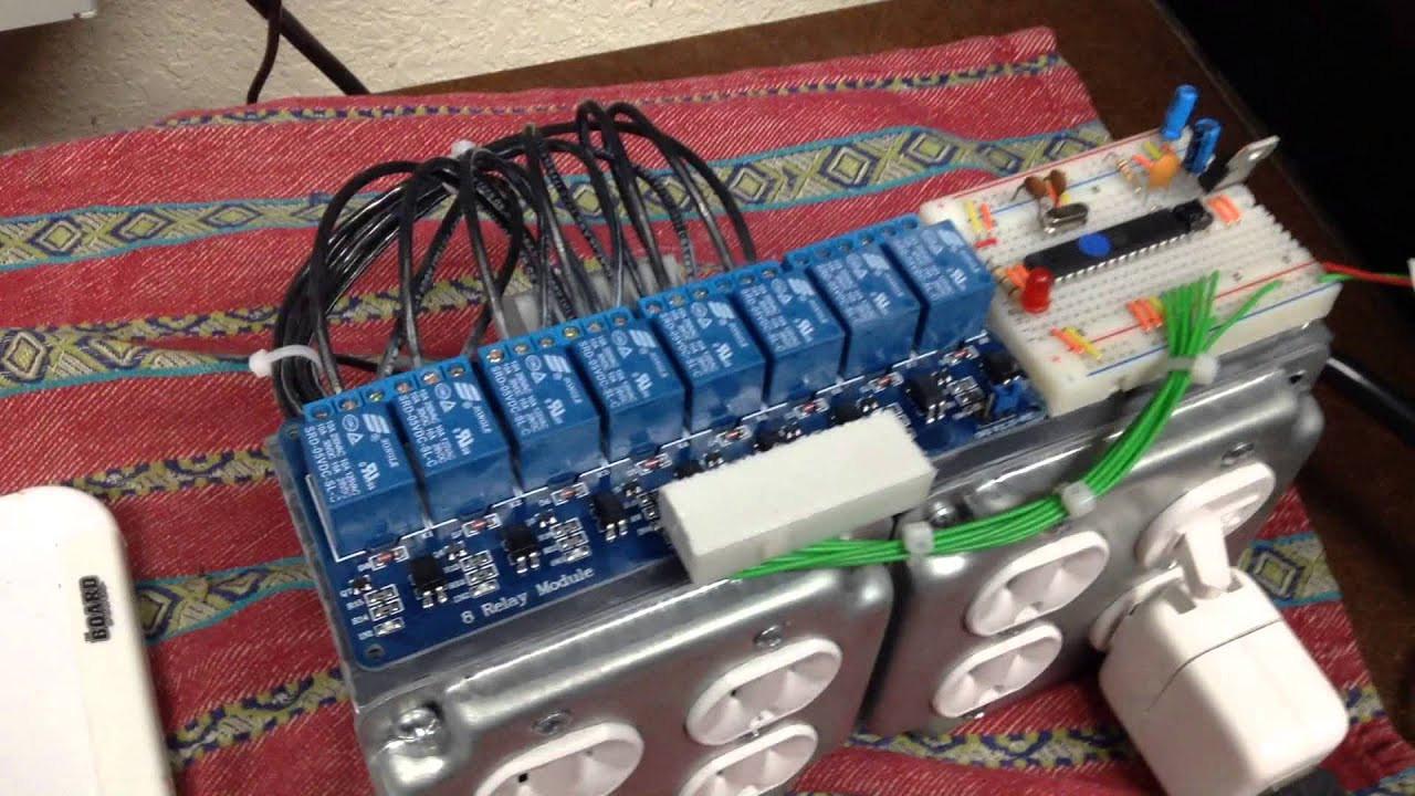 Christmas Lighting Controller System  DIY homemade Christmas light controller
