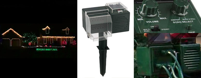 Christmas Lighting Controller System  Amazing Synchronized Christmas Light & Sound Device Outdoors