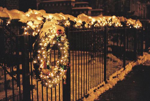 Christmas Lights On Fence Ideas  Holiday Fence Decor
