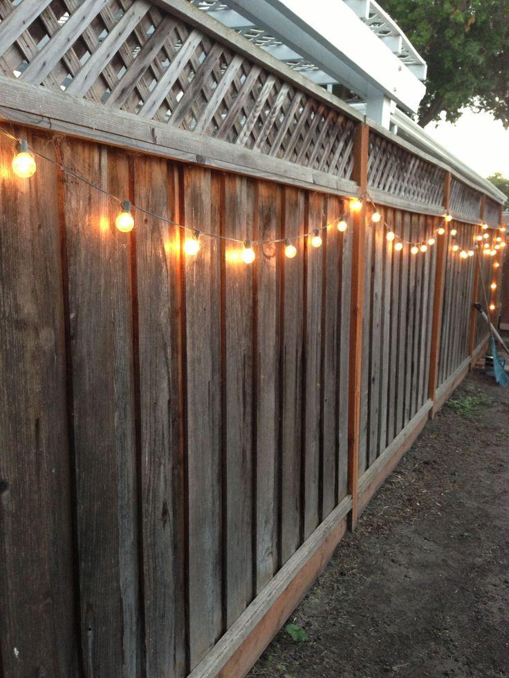 Christmas Lights On Fence Ideas  DIY backyard lighting Hang lights on your fence