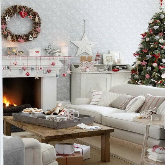 Christmas Living Room Ideas  60 Elegant Christmas Country Living Room Decor Ideas