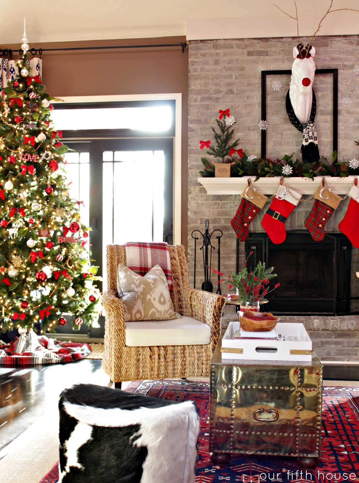 Christmas Living Room Ideas  our christmas home Our Fifth House
