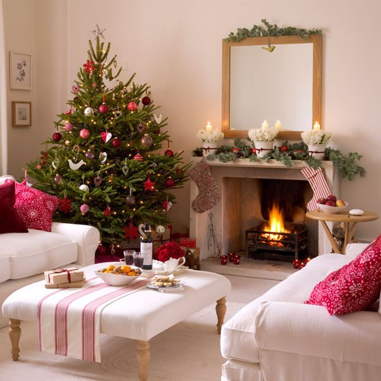 Christmas Living Room Ideas  5 Inspiring Christmas Shabby Chic Living Room Decorating Ideas