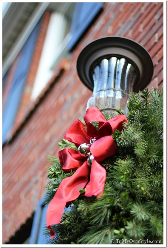 Christmas Porch Light Decorations Beautiful Diy Christmas Porch Light Decoration