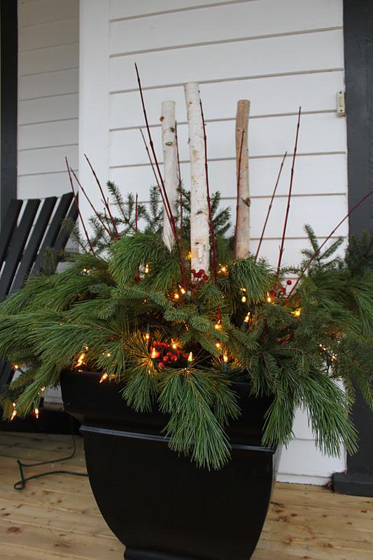 Christmas Porch Pots Fresh Modern Jane Outdoor Pots Weekend Tidbits