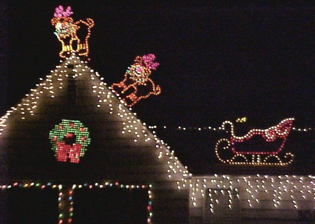 Christmas Rooftop Decorations  Santa Reindeer Holiday Decorations Rain and Roof Repair