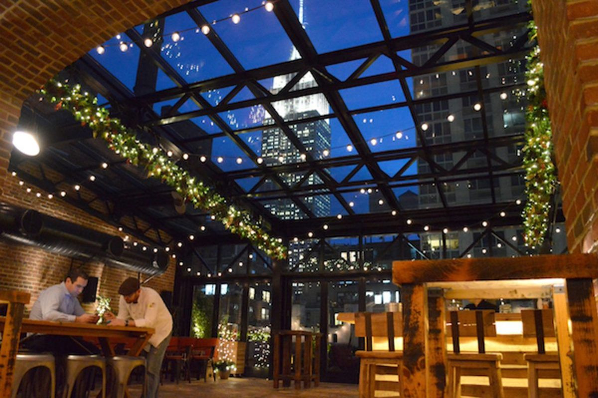 Christmas Rooftop Decorations  5 Festive NYC Restaurants With the Best Holiday