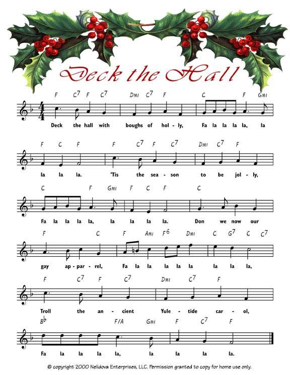 Christmas Songs Deck The Hall  Deck the Hall