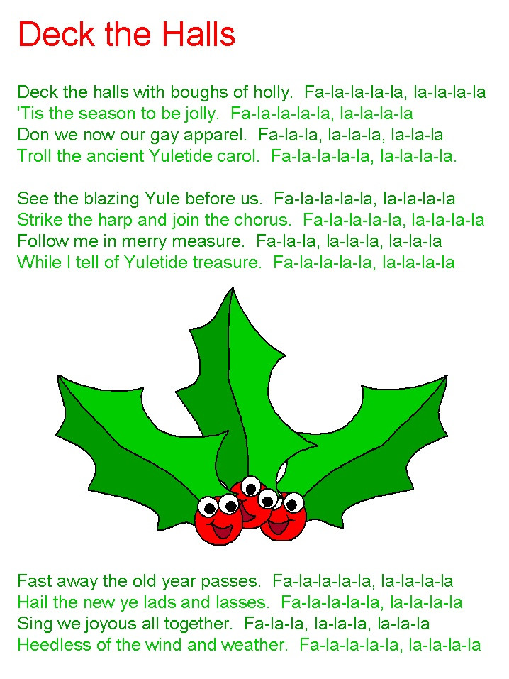 Christmas Songs Deck The Hall  Deck the Halls lyrics christmas