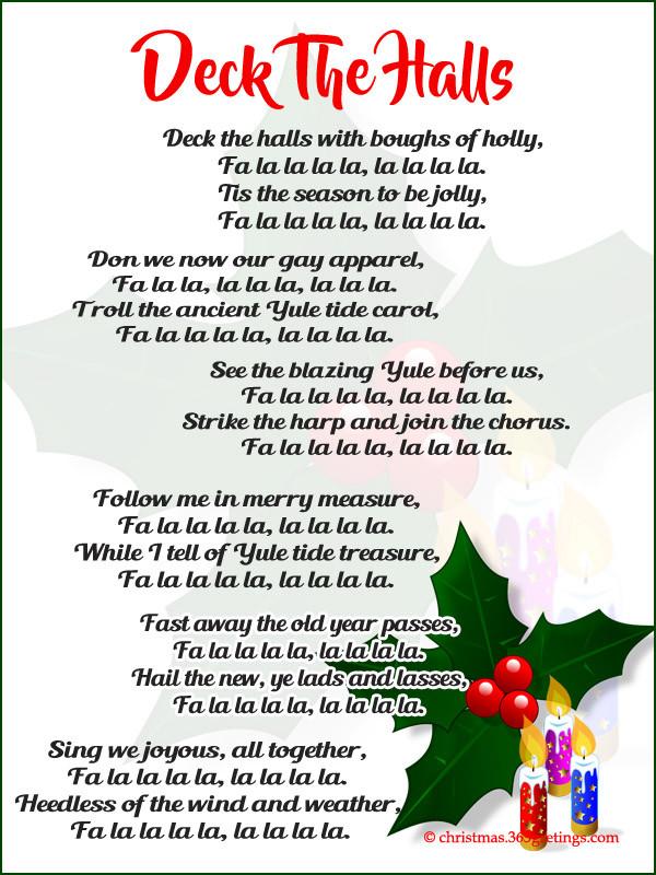 Christmas Songs Deck The Hall  Popular Christmas Carols Christmas Celebration All