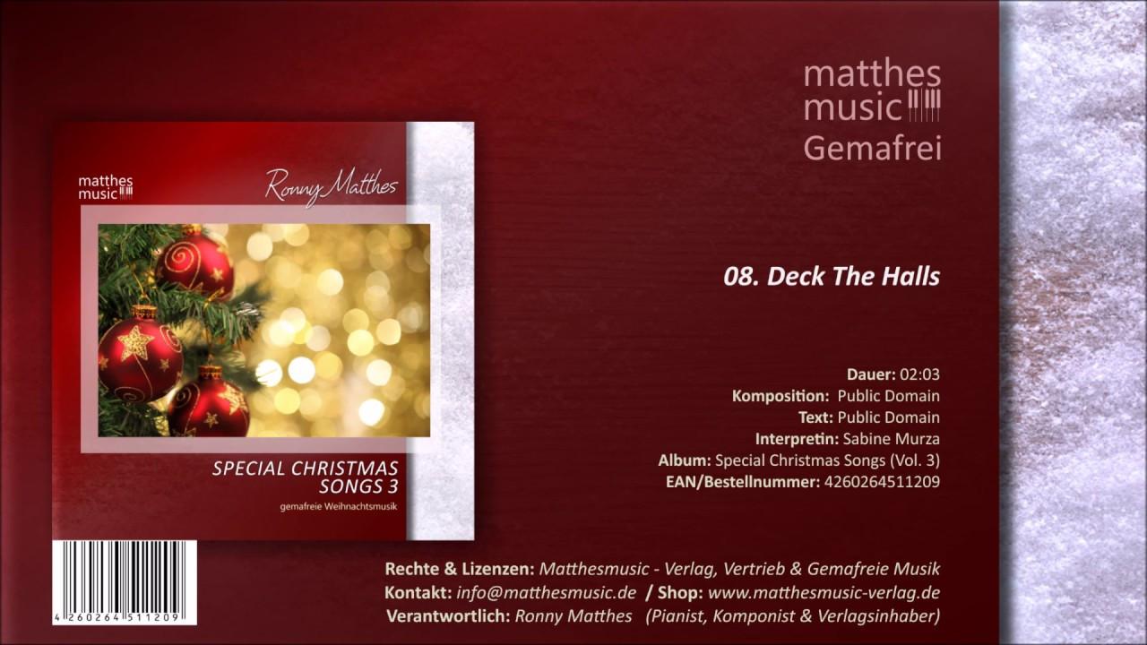 Christmas Songs Deck The Hall  Deck The Halls 08 13 [Royalty Free Christmas Song] CD