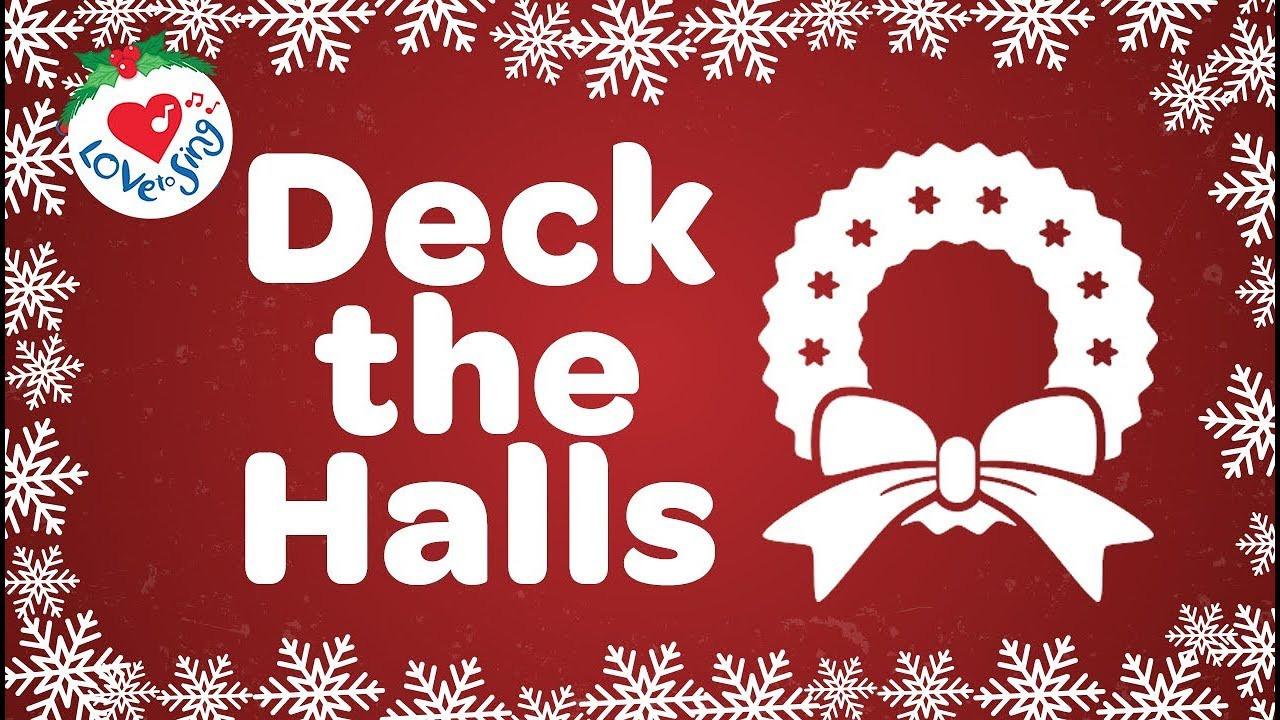 Christmas Songs Deck The Hall  Deck the Halls with Lyrics HD