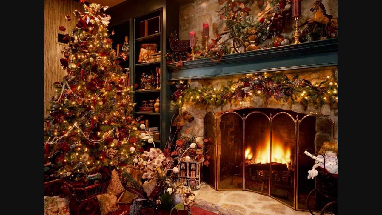 Christmas Songs With Fireplace  Christmas carols instrumentals fireplace sound