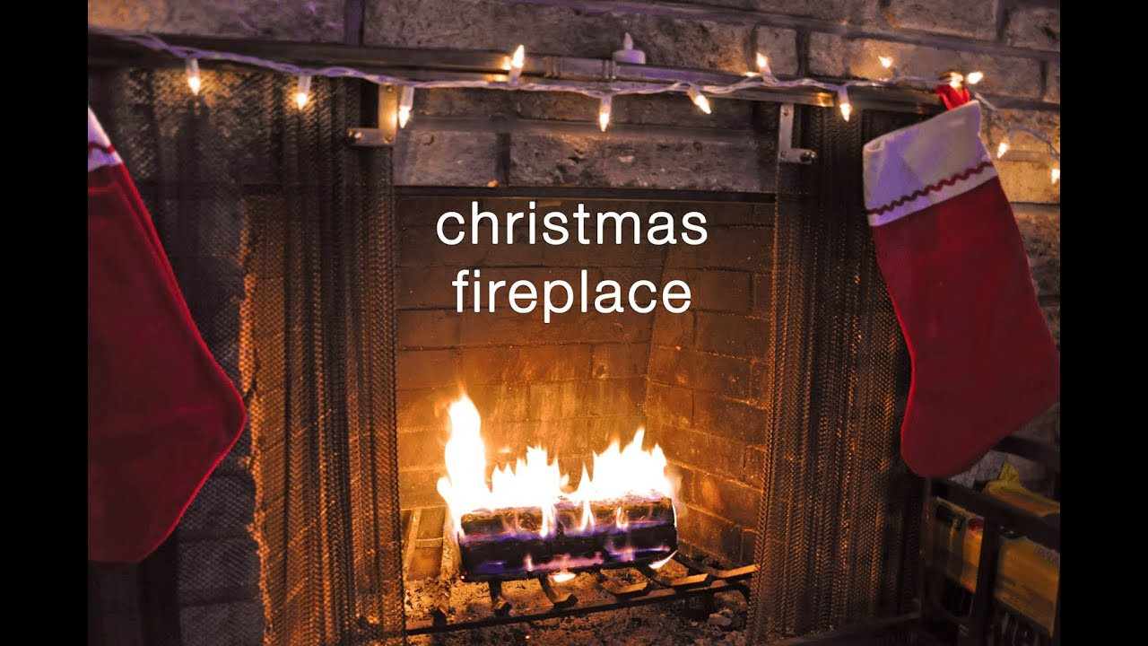 Christmas Songs With Fireplace  Crackling Fireplace Christmas Music Relaxation Video HD