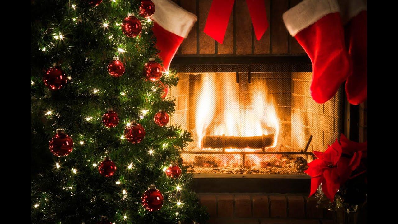 "Christmas Songs With Fireplace  ""Ultimate""burning log fireplace Traditional Christmas"