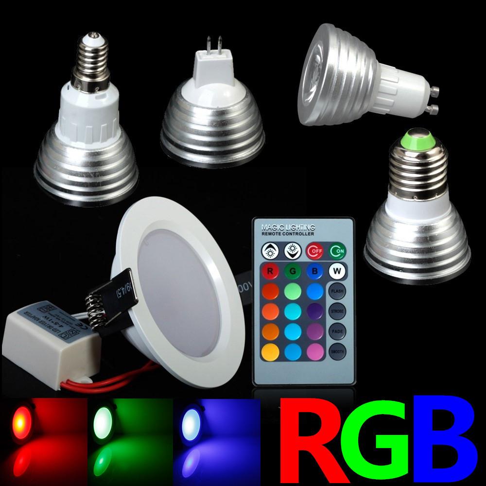 Christmas Spot Lighting  All Kinds RGB Colorful Changeable RGB LED Spotlight Bulb