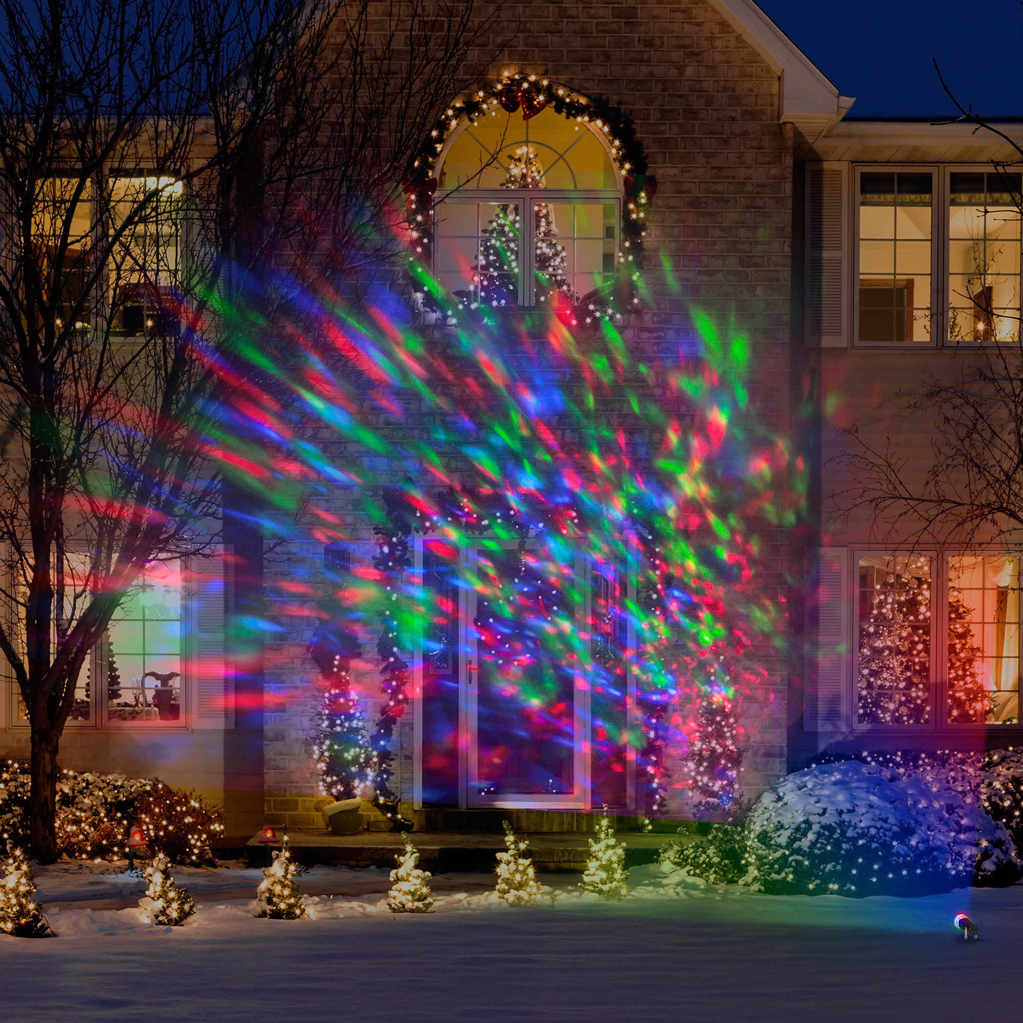 Christmas Spot Lighting  Lightshow Kaleidoscope Multi Colored Christmas Lights Led