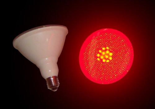 Christmas Spot Lighting  Red LED PAR 38 Bulbs