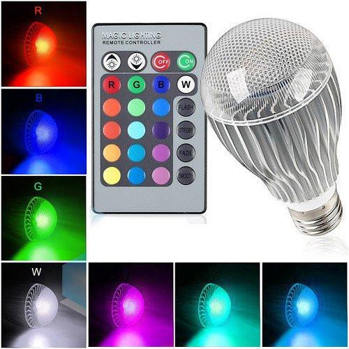Christmas Spot Lighting  T Power 9W 9Watt E27 16 Colors LED Magic Spot Light