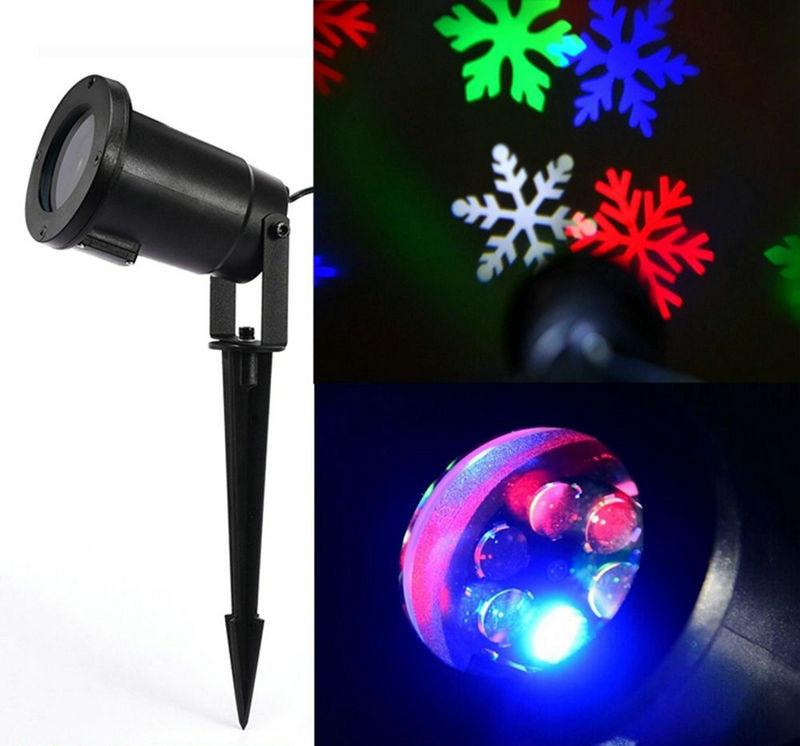 Christmas Spot Lighting  Outdoor Snowflake snow Laser LED Landscape Light Garden
