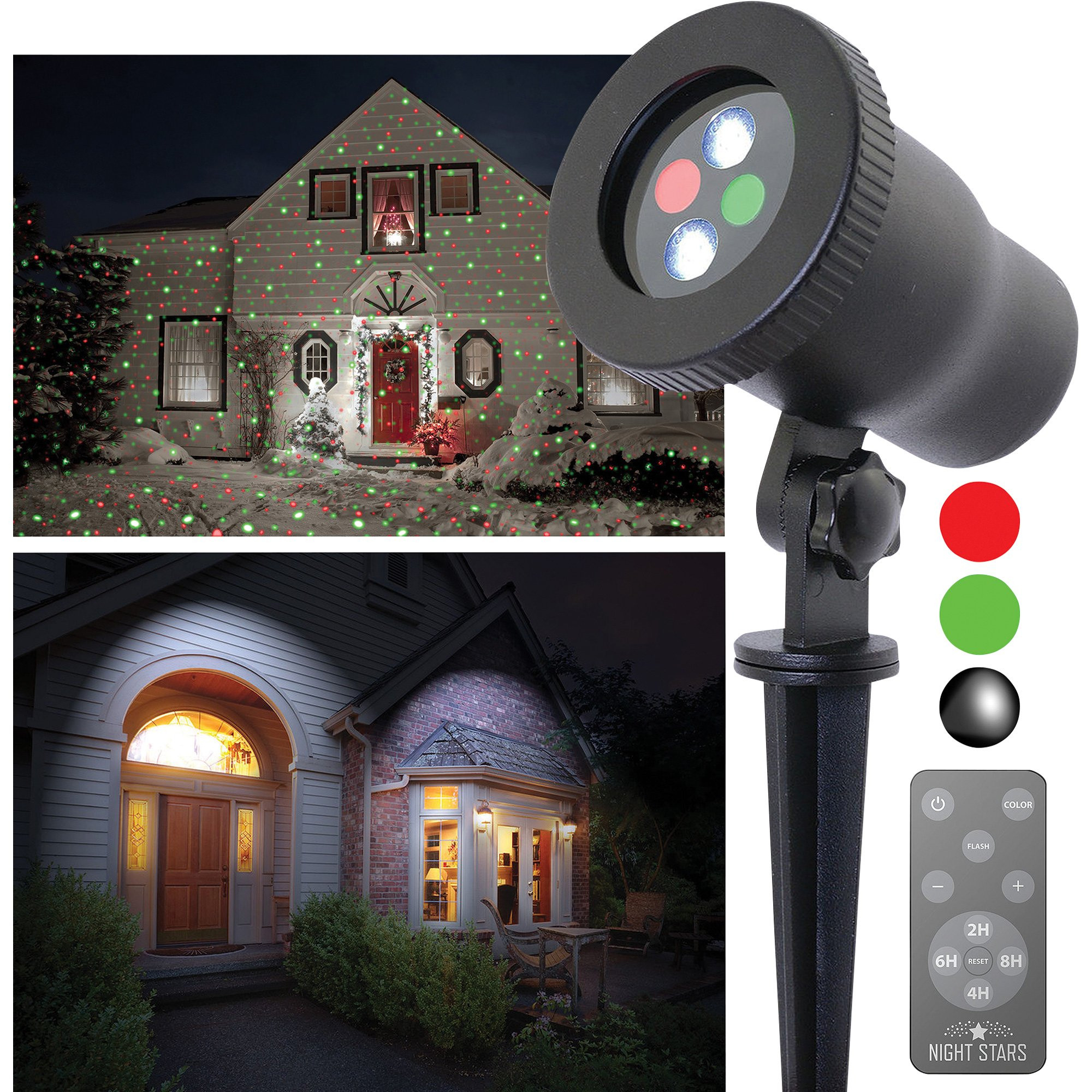 Christmas Spotlight Outdoor  Night Stars Premium Series Red Green Outdoor Laser