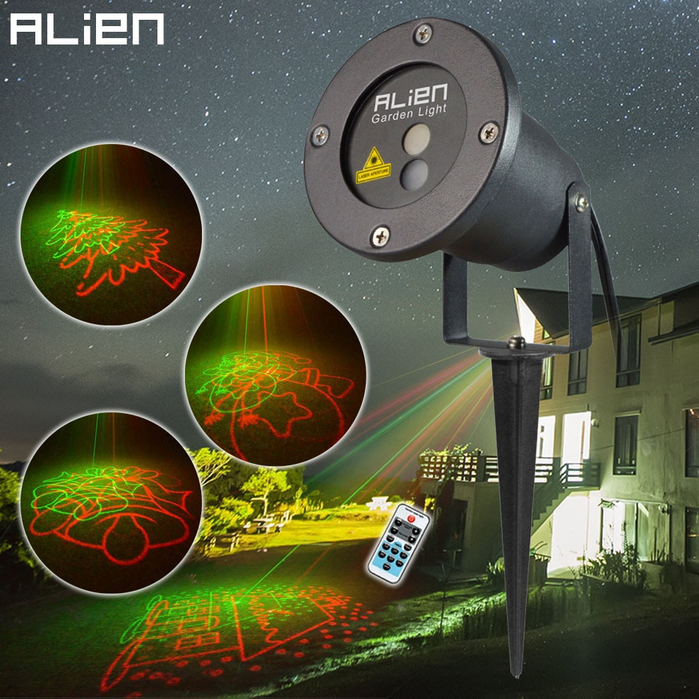 Christmas Spotlight Outdoor  Outdoor Xmas Laser Lights Projector Waterproof Garden