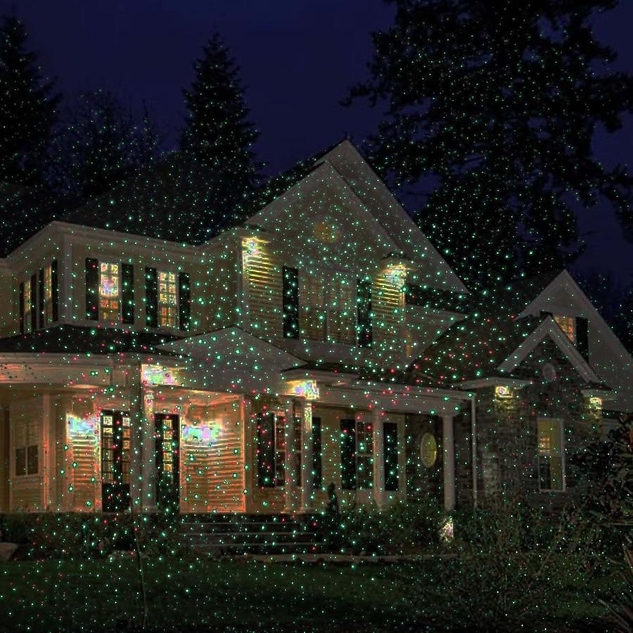 Christmas Spotlight Outdoor  Lawn Star Laser Light Christmas Lights Outdoor Spotlight