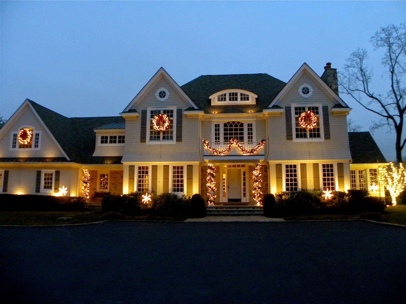 Christmas Spotlight Outdoor  Simple Details pretty glow with outdoor spotlights