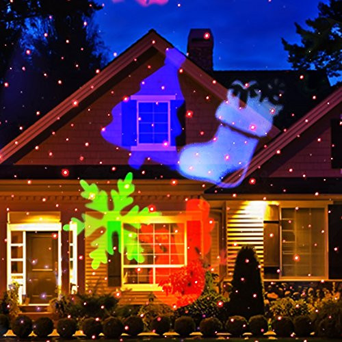 Christmas Spotlight Outdoor  Christmas Laser Light [Newest Version] Ucharge Snowflake