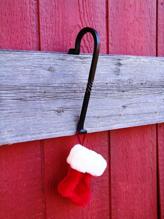 Christmas Stocking Hangers For Fireplace  Fireplace Mantle Christmas Stocking Hanger by FurnaceBrookIron