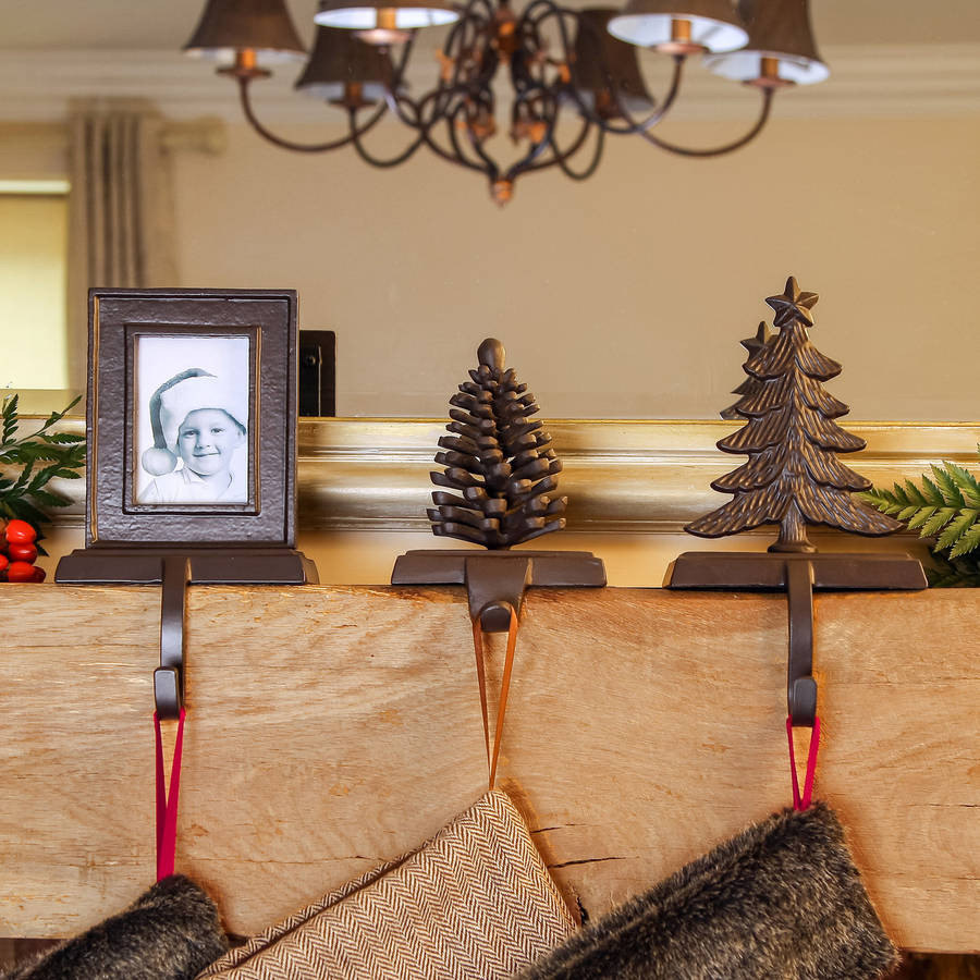 Christmas Stocking Hangers For Fireplace  Decor Nice Interior Decorating With Christmas Stocking