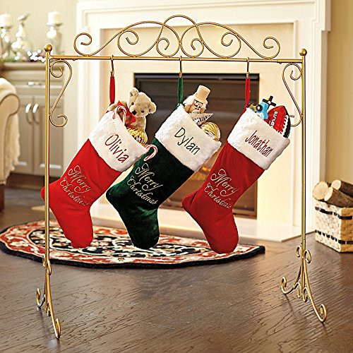 Christmas Stocking Hangers For Fireplace  How To Hang Christmas Stockings Without a Fireplace Mantle