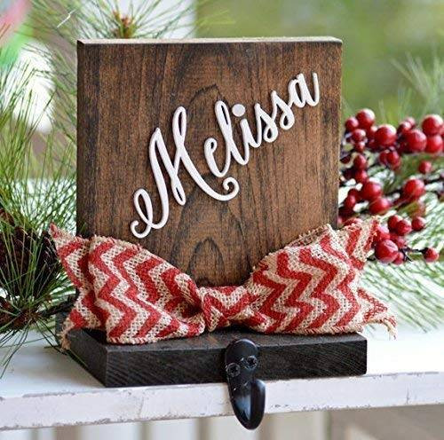 Christmas Stocking Hangers For Fireplace  Amazon Personalized Christmas Stocking Holder For