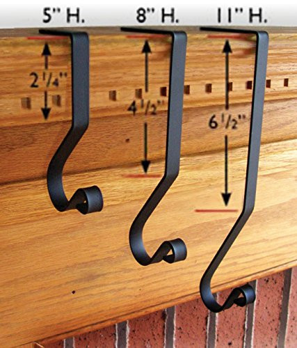 """Christmas Stocking Hangers For Fireplace  Iron 11"""" Christmas Stocking Winter Fireplace Mantel Hook"""
