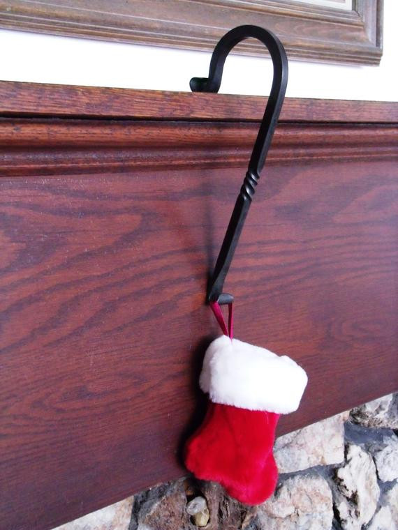 Christmas Stocking Hangers For Fireplace  Set Six Fireplace Mantle Christmas Stocking Hangers