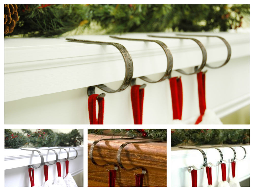 Christmas Stocking Hangers For Fireplace  Original Mantle Fireplace Christmas Stocking Holder Hanger