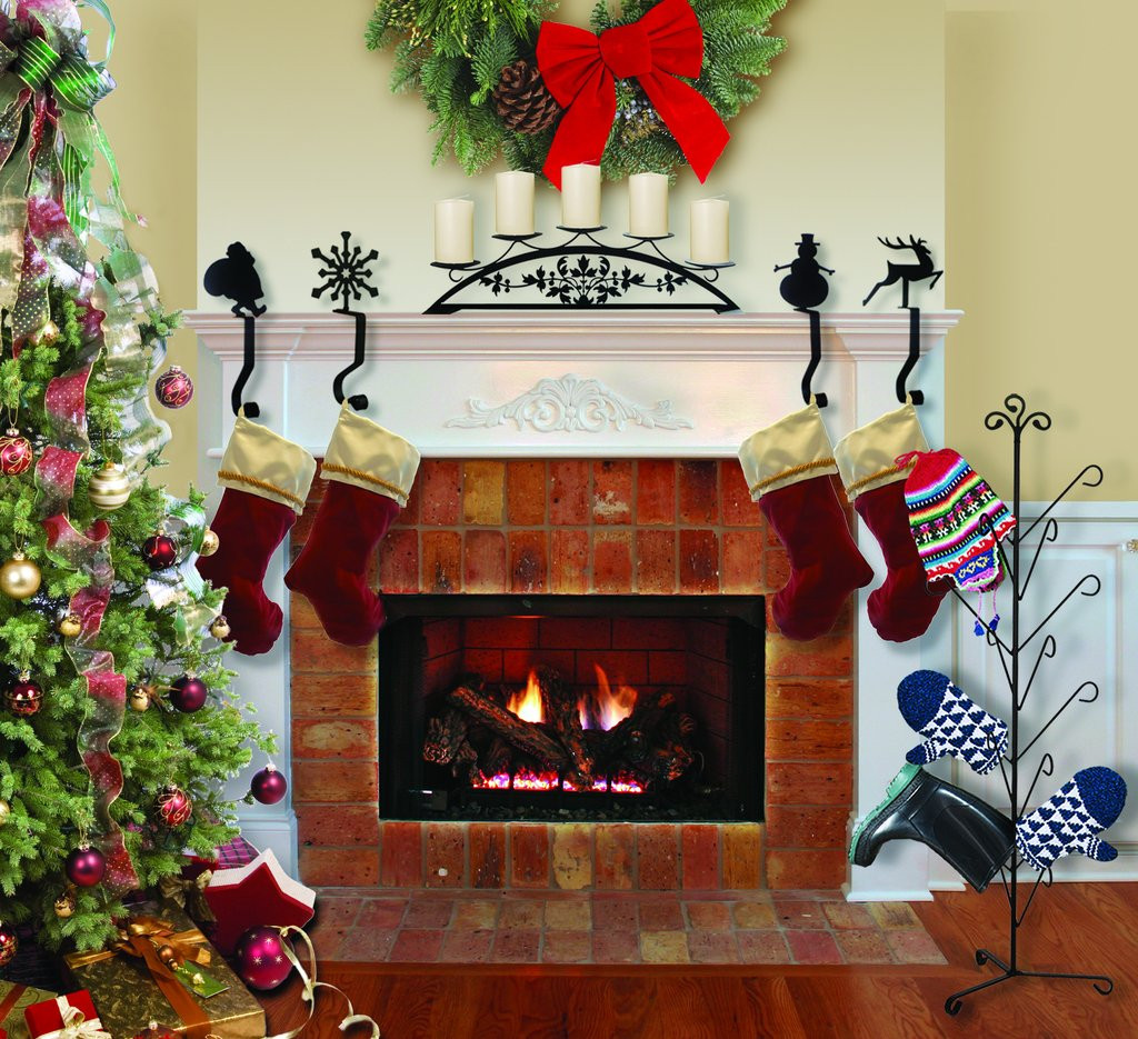 Christmas Stocking Hangers for Fireplace Inspirational Wrought Iron 9in Moose Christmas Stocking Winter Fireplace