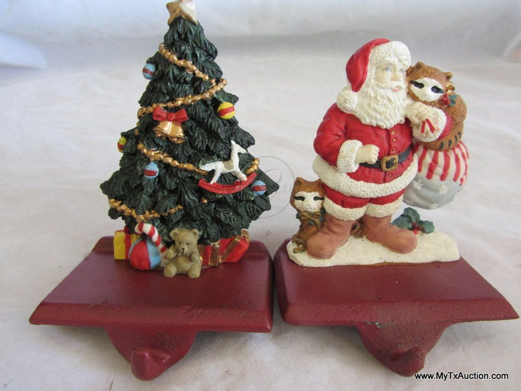 Christmas Stocking Hangers For Fireplace  2 Fireplace Mantle Shelf Christmas Stocking Hangers