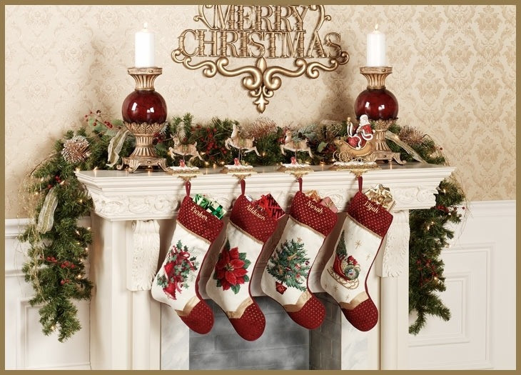 Christmas Stocking Hangers For Fireplace  Christmas Stocking Holders For Fireplace