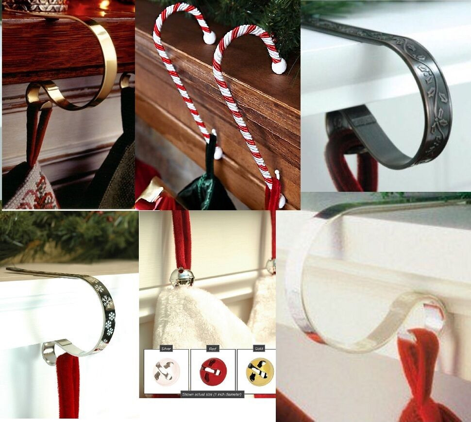 Christmas Stocking Hangers For Fireplace  Original CHRISTMAS STOCKING HOLDERS hanger hook support