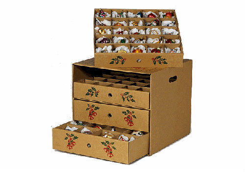 Christmas Storage Box  4 drawer Christmas ornament storage box corrugated