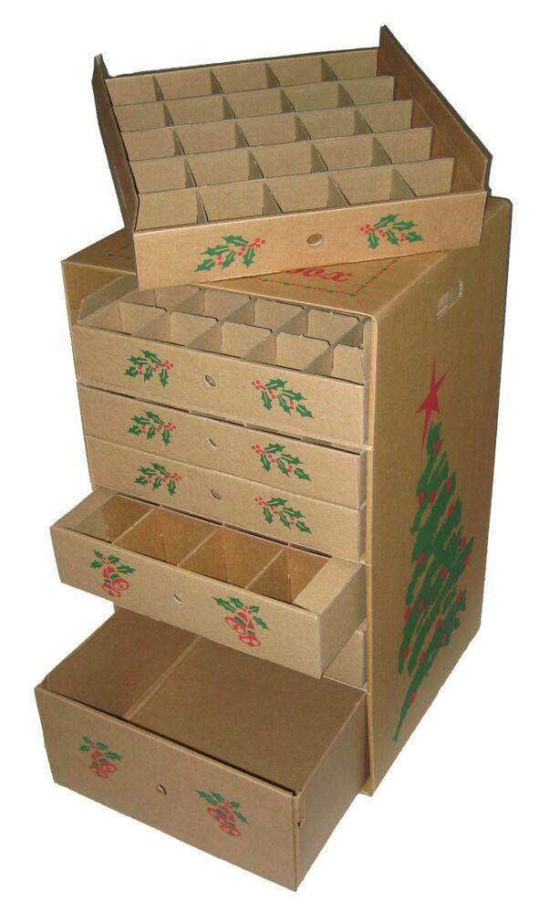 Christmas Storage Box  7 drawer christmas ornament storage box corrugated