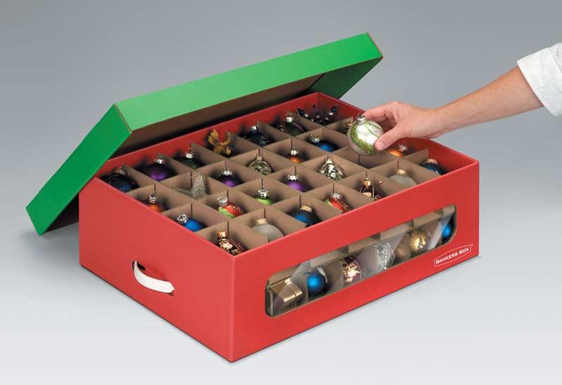 Christmas Storage Box  Amazon Bankers Box Holiday Ornament Storage Box