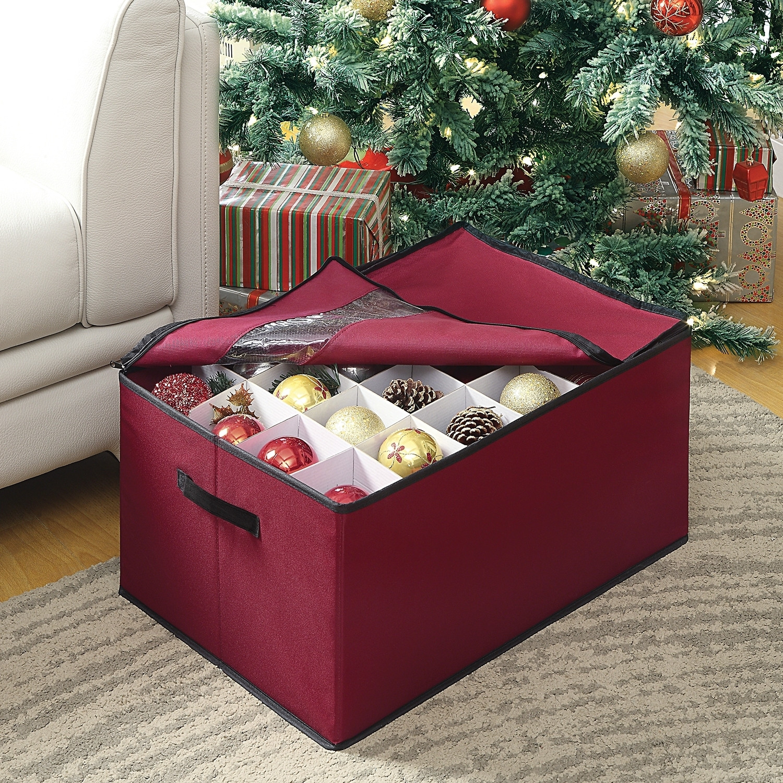 Christmas Storage Box  CHRISTMAS ORNAMENT STORAGE BOX [ W 1] $23 99