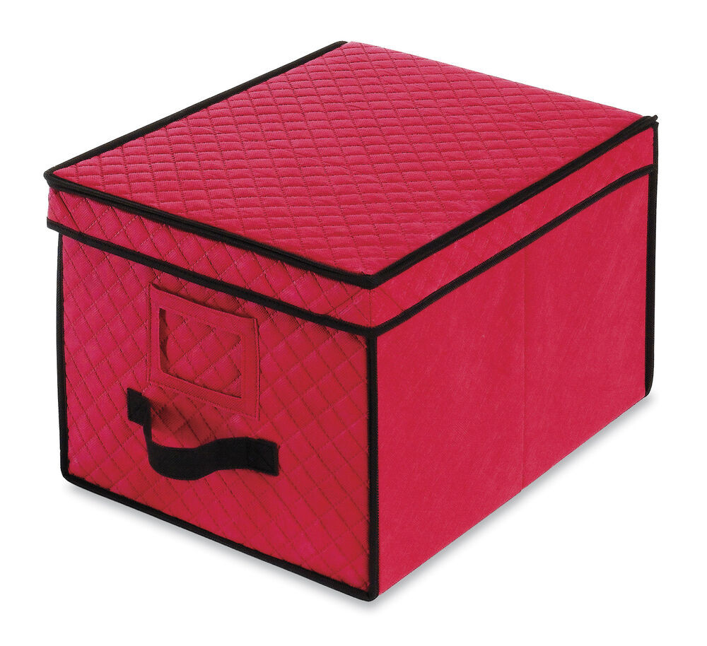Christmas Storage Box  Whitmor Christmas Ornament Storage Box