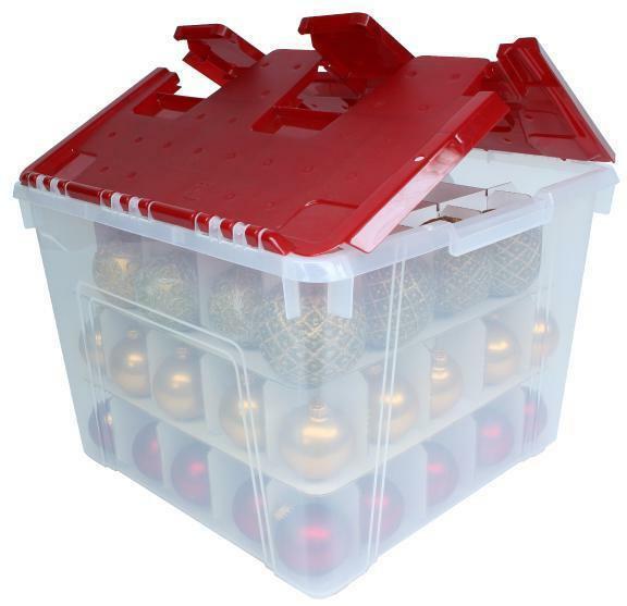 Christmas Storage Box  IRIS Holiday Christmas Plastic Wing Lid Ornament Storage